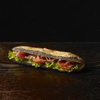 Poppy ham sandwich